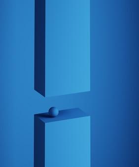 Abstrakte 3d-wiedergabe von geometrischen formen. minimalistische komposition. balance-konzept. modernes hintergrunddesign für plakat, umschlag, branding, banner, plakat.