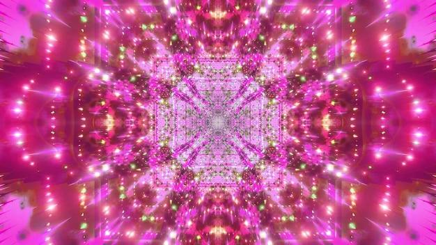 Abstrakte 4k uhd farbwechselraumgalaxie 3d illustration