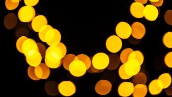 Abstrakte abstrakte gelbe Lichter