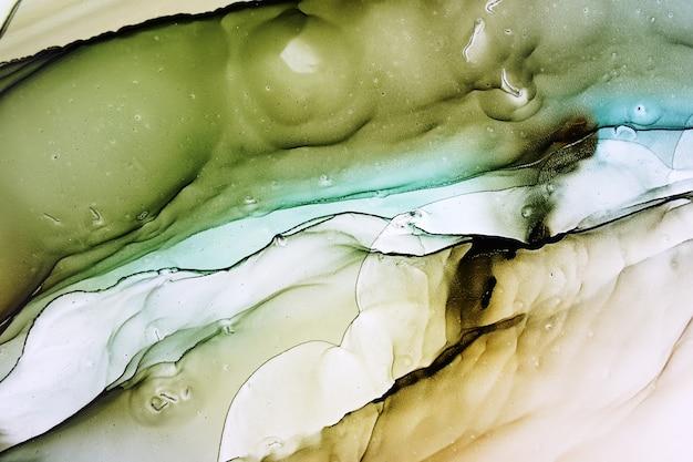 Abstrakte alkoholtintenmalerei, makrofoto