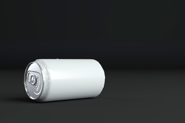 Abstrakte aluminiumdose präsentation mit kopierraum