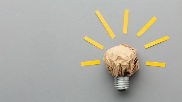 Abstrakte anordnung der draufsicht mit innovationselementen