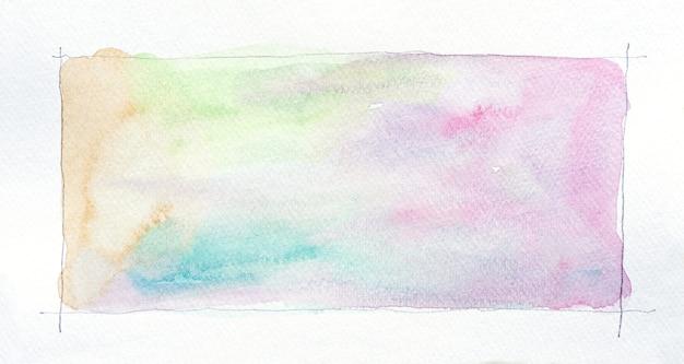 Abstrakte aquarellflecken hintergrund. handgezeichnete aquarellstriche, die auf weiß malen. es ist perfekt für postkarten, visitenkarten, poster, webdesign, verpackungen usw.