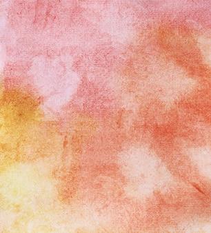 Abstrakte aquarellhand gezeichnet auf pastellrosa hintergrund