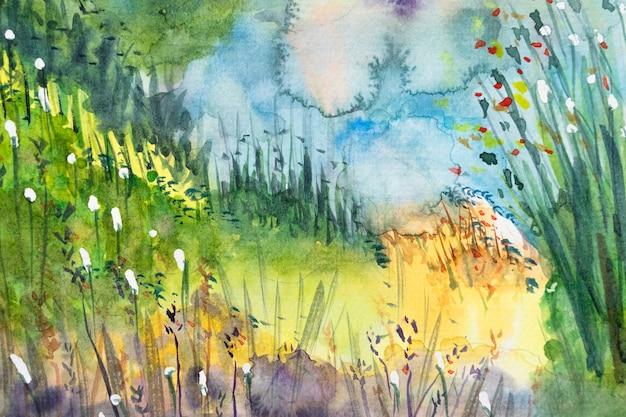 Abstrakte aquarellpinselstriche für den hintergrund. nahaufnahme.