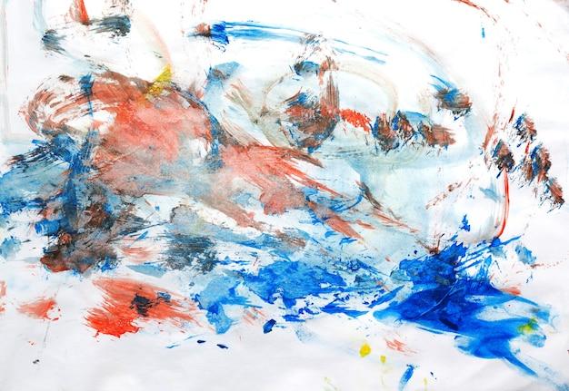 Abstrakte aquarellstriche auf papierhintergrund