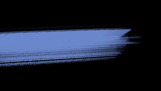 Abstrakte blaue bürsten der bewegung, bunter schmutzhintergrund. eleganter und luxuriöser 3d-illustrationsstil für hipster- und aquarellvorlagen
