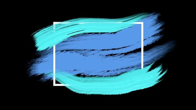 Abstrakte blaue und grüne bürsten der bewegung, bunter schmutzhintergrund. eleganter und luxuriöser 3d-illustrationsstil für hipster- und aquarellvorlagen