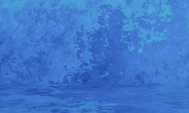 Abstrakte blaue und grüne wand