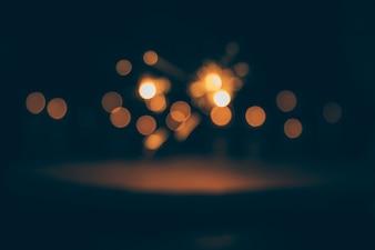Abstrakte bokeh Lichter auf dunklem Hintergrund