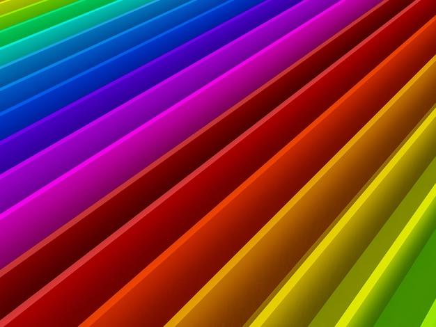 Abstrakte bunte kurve des regenbogenhintergrunds der kurve, 3d
