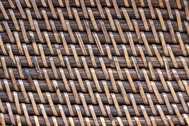 Abstrakte dekorative hölzerne strukturierte korbflechten. korb textur hintergrund, nahaufnahme. abstrakter horizontaler hintergrund oder textur aus natürlichem korbgeflecht