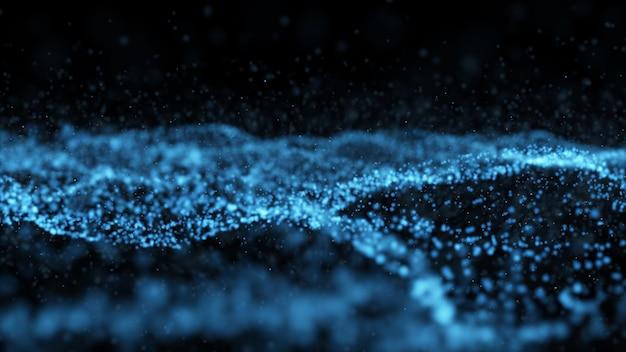 Abstrakte digitale transformation moderne partikeltechnologie abstrakter netzwerkdrahtrahmen.
