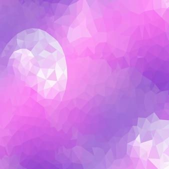 Abstrakte dreiecke muster hintergrund. violettes mosaik, illustration