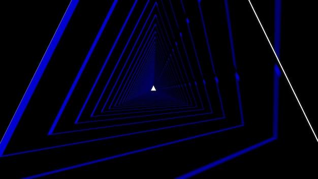 Abstrakte dreieckform im schwarzen hintergrund