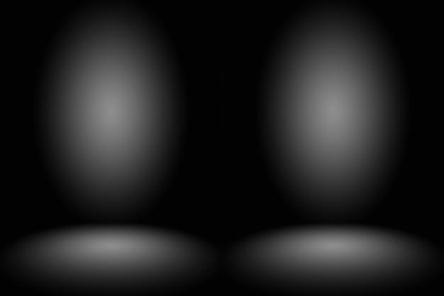 Abstrakte dunkelgraue vorlage leerraum dunkle farbverlaufswand. dunkelgrauer leerer raum studio farbverlauf verwendet für die montage oder anzeige ihrer produkte.