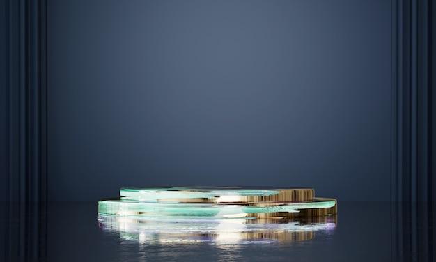 Abstrakte eleganz luxusbühnenplattform, vorlage für werbeprodukt, 3d-rendering.