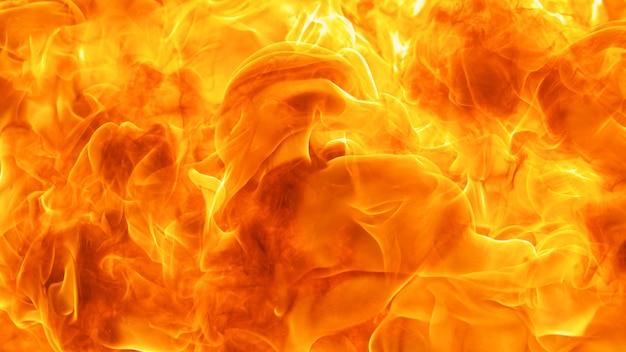 Abstrakte explosionsflamme, flamme, feuerelement zur verwendung als texturhintergrund-designkonzept