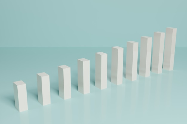 Abstrakte finanzielle börse balkendiagramm business 3d-rendering