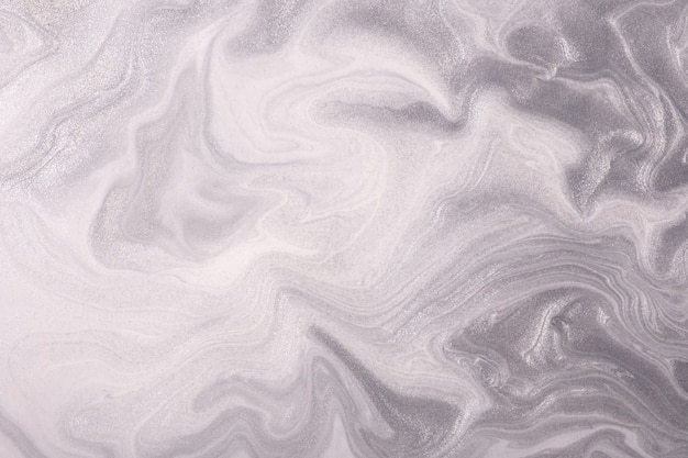 Abstrakte fließende kunsthintergrundlichtsilber- und weißfarben.