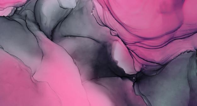 Abstrakte flüssige tinte malerei hintergrund grau lila farben