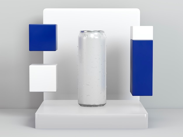 Abstrakte flüssigkeitsbehälterpräsentation