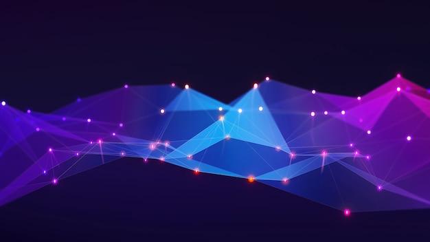 Abstrakte fotohintergrundkontaktkommunikation networking, datengruppenverbindung, 3d-darstellung