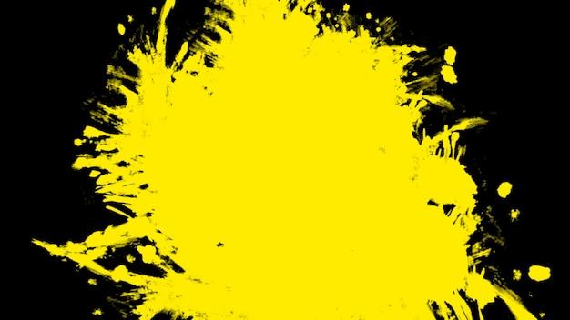 Abstrakte gelbe bürsten der bewegung, bunter schmutzhintergrund. eleganter und luxuriöser 3d-illustrationsstil für hipster- und aquarellvorlagen