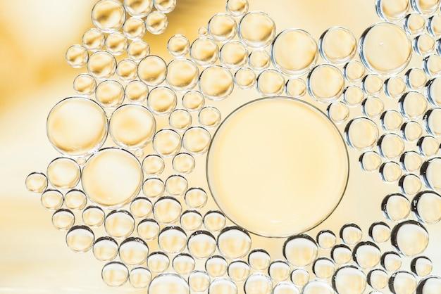 Abstrakte gelbe luftblasenbeschaffenheit