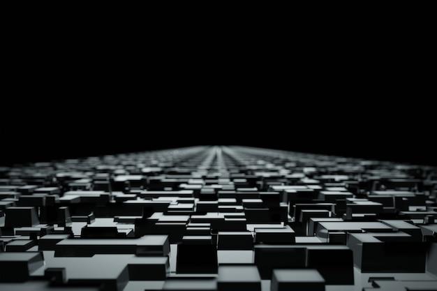 Abstrakte geometrische digitale dunkle blöcke