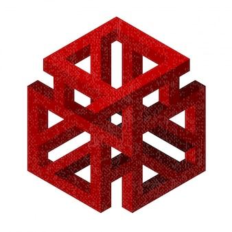 Abstrakte geometrische figur