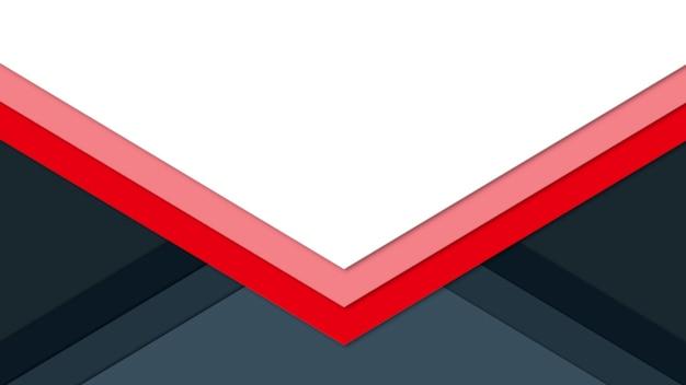 Abstrakte geometrische rote linien auf modernem schwarzem hintergrund. eleganter und luxuriöser 3d-illustrationsstil für geschäfts- und unternehmensvorlagen