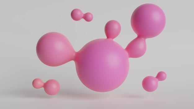 Abstrakte geometrische schwebende flüssige blobs