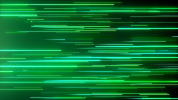 Abstrakte gerichtete neonlinien