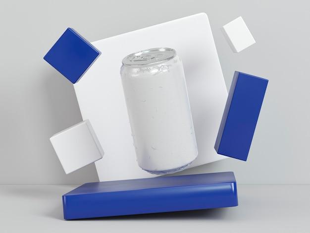 Abstrakte getränkebehälterpräsentation
