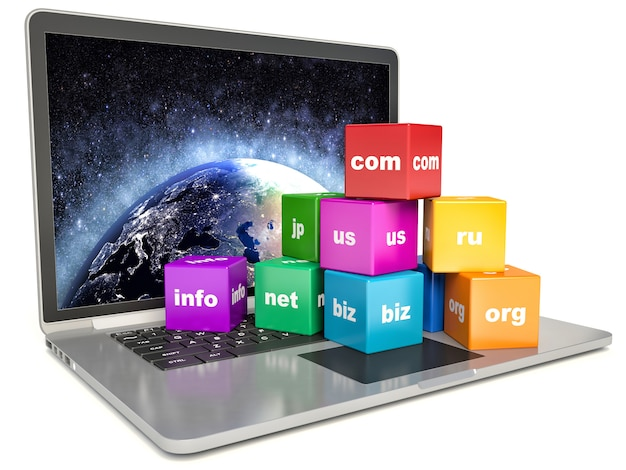 Abstrakte globale internetkommunikations-pc-technologie