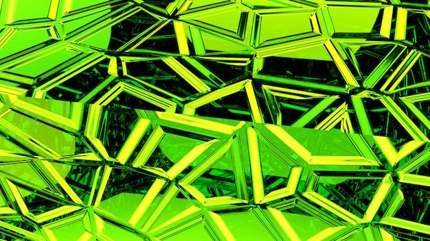 Abstrakte grüne wiedergabe des hintergrundes 3d