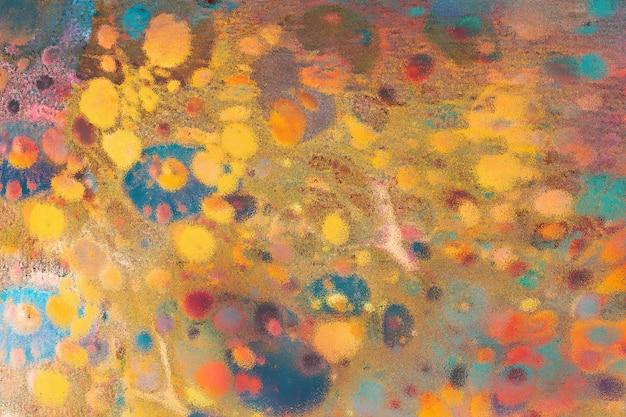 Abstrakte grunge kunst-hintergrundbeschaffenheit mit buntem lack spritzt