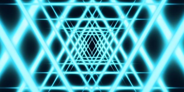 Abstrakte helle linien leuchtende linien auf dunklem hintergrund 3d-darstellung