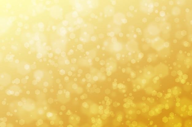 Abstrakte hexagon bokeh-hintergrund-gelb-steigung