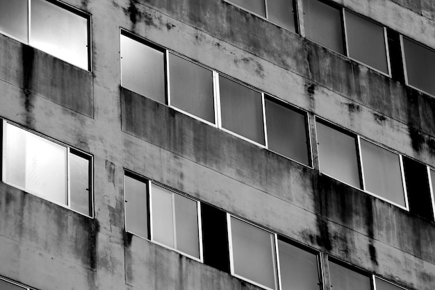 Abstrakte hintergrundbeschaffenheit der fenstergebäudearchitektur