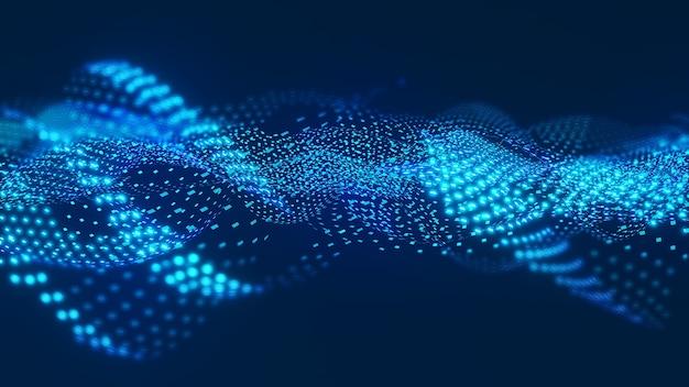 Abstrakte hintergrundillustration bewegung von informationeninformationsverarbeitungwellenbewegung von daten