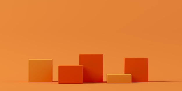 Abstrakte hintergrundszene für die 3d-wiedergabe der produktanzeige