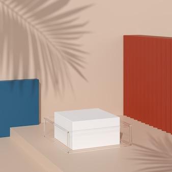 Abstrakte hintergrundszene für produktanzeige. 3d-rendering