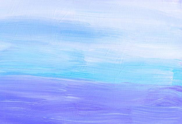 Abstrakte hintergrundtextur. pastelllila, blau, türkis, weiße malerei. zeitgenössische kunst. pinselstriche auf papier.