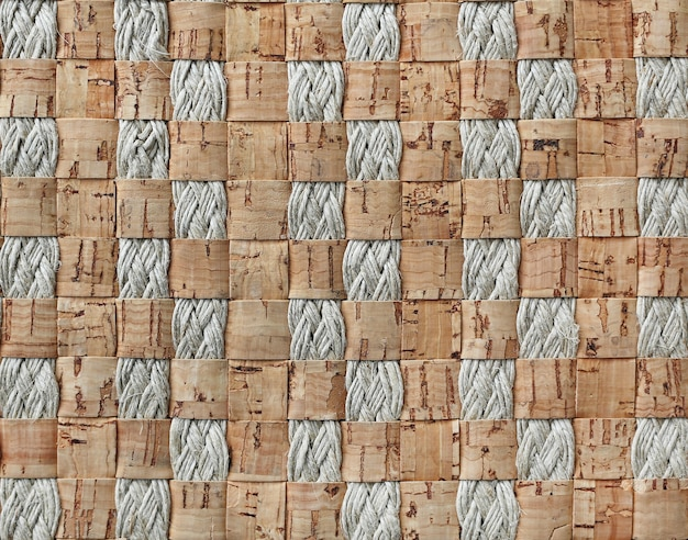 Abstrakte hintergrundwebart des korkens und des seils