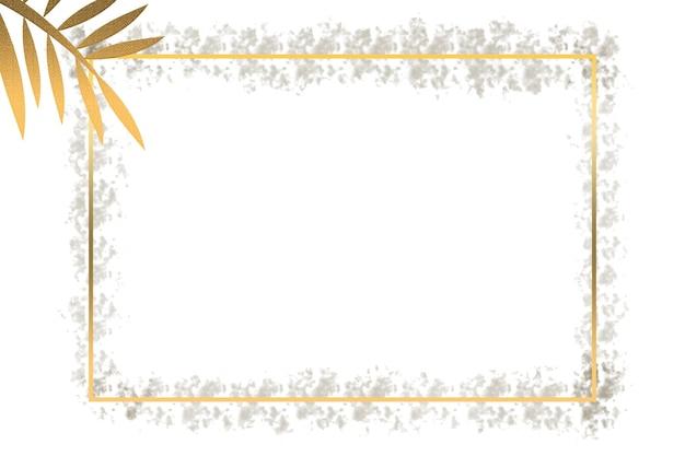 Abstrakte illustration eines logohintergrundes eines quadrats und der blätter in gold