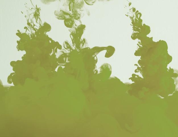 Abstrakte kakifarbige grüne wolke des dunstes