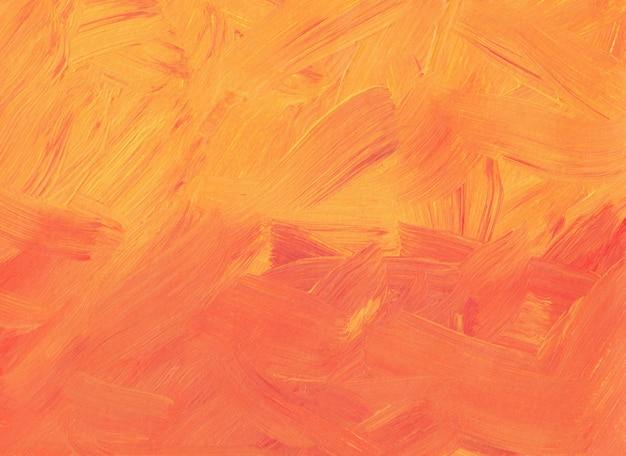 Abstrakte korallen- und pfirsichfarbenhintergrundmalerei. orange und rote strukturierte pinselstriche auf papier. zeitgenössische kunst.