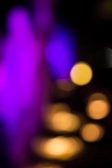 Abstrakte kreisbokehbeleuchtung in der nacht